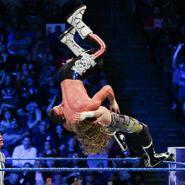 Zayn tosses Ziggler off the turnbuckle