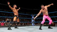 Bobby-Roode bout to hit Kanellis with a Glorious move
