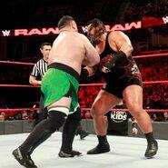 Samoa Joe battles Rhyno