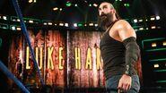 Luke-Harper making his way to the ring