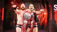Cesaro and Sheamus winning the Raw Tag Team Champion