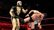 Balor hit back with a kick to Goldust