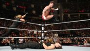 CM-Punk elbowdrop on Dean-Ambrose