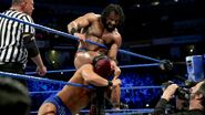 Mahal puts Roode between the ropes