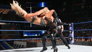 Natalya put Charlotte in a sitout powerbomb