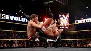 Sami puts Neville in the Blue Thunder Bomb