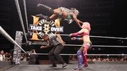 Moon jumped onto Asuka