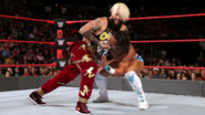 Enzo-Amore putting Nese in a headlock