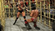 Orton hit Mahal with a kendo-stick