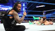 Mojo-Rawley defeated by the Usos