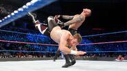 Sami land a dropkick at Orton