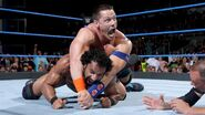Cena putting Mahal in submission