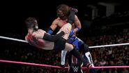 Styles knocked off the turnbuckle