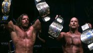 Triple-H and Austin holding the World Tag Team Champion