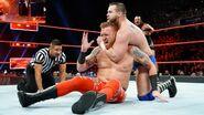 Wilder puts Slater in a headlock