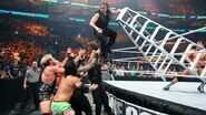 Cody-Rhodes knock down the ladder of Ambrose