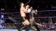 Gallagher attacks Hideo Itami