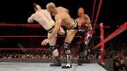 Cesaro and Sheamus double kick Heath-Slater