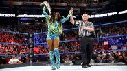 Naomi winning the SmackDown Womens Champion