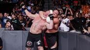 Samoa-Joe sleeperhold on Lesnar