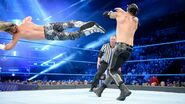 Another shot of Ziggler dropkick Corbin