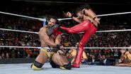 Nakamura deliver a devastating kick to Mahal