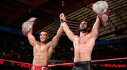 Jason Jordan and Seth Rollins win the Raw Tag Team Champion