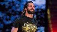 Seth Rollins smiling