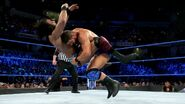JInder Mahal into the spinebuster of Roode