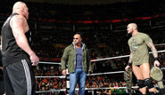 Brock Lesnar and Batista and Randy at Raw