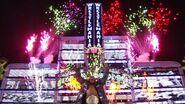 Edge entrance in WrestleMania 24