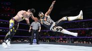 Metalik puts Perkins down to the mat
