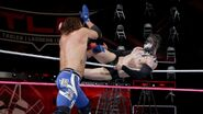 Styles kicked by Balor