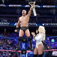 The Miz rising the Intercontinental Champion