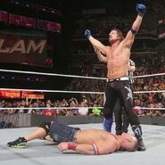 AJ defeated John Cena