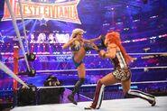 Charlotte kick Becky at WrestleMania-32