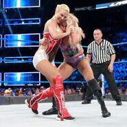 Lana grabbin on Charlotte