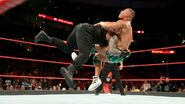 Roman-Reigns a bone-rattling spear to Jasoon-Jordan