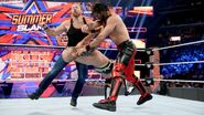 Ambrose and Rollins clothesline Cesaro