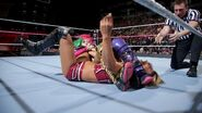 Asuka goes for a quick submission
