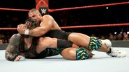 Jordan putting Reigns in a crossface