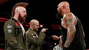 Luke and Karl arguing Cesaro and Sheamus