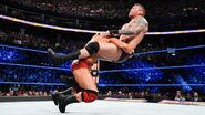 Orton puts through in a spinebuster by Roode