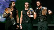 Ambrose Reigns and Rollins hold the Champions