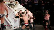Ambrose and Rollins fighting back Cesaro Sheamus and The-Miz