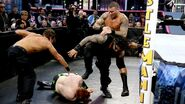 Dean and Roman facing Sheamus and Orton