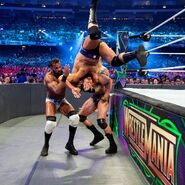 Rusev rolled on top of Mahal and Orton