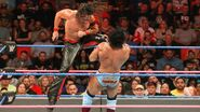 Nakamura hit Mahal with a knee