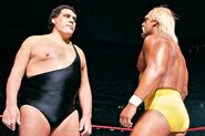 Hogan facing Andre the Giant