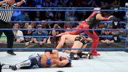 With both men down Shinsuke Nakamura attacks
